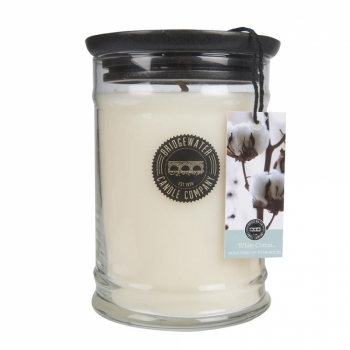 Bridgewater Candle Large Jar White Cotton 524 g