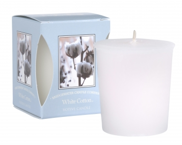 Bridgewater Candle White Cotton Votivkerze 56 g