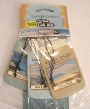 Yankee Candle Beach Vacation Car Jar 3er Packung