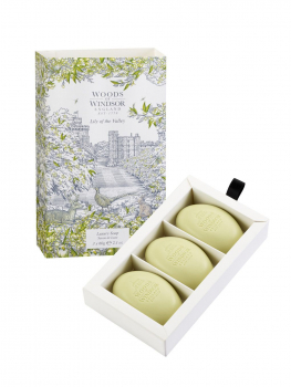 Woods of Windsor - Luxury Soap 3x60 g - Lily of the Valley