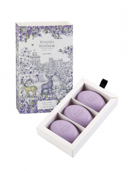 Woods of Windsor - Luxury Soap 3x60 g - Lavender