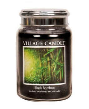 Village Candle Black Bamboo 645 g - 2 Docht