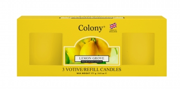 Wax Lyrical - Colony Fragranced 3 Votive Refill Box Lemon Grove