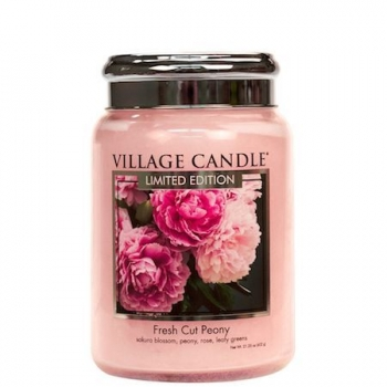 Village Candle Fresh Cut Peony 645 g - 2 Docht