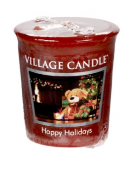 Village Candle Happy Holidays Votivkerze 57 g