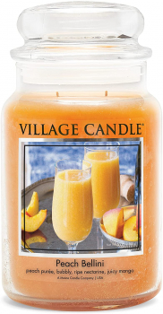 Village Candle Peach Bellini 602 g - 2 Docht