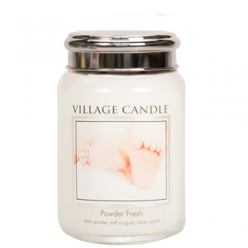 Village Candle Powder Fresh 645 g - 2 Docht