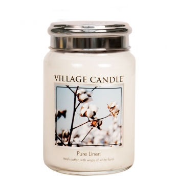 Village Candle Pure Linen 645 g - 2 Docht