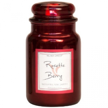 Village Candle Rosette Berry - Metallic Line - 645 g - 2 Docht