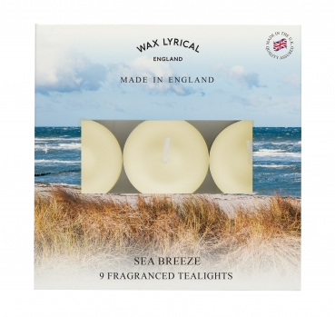 Wax Lyrical - Made in England - Fragranced Teelights Sea Breeze - 9 Stück