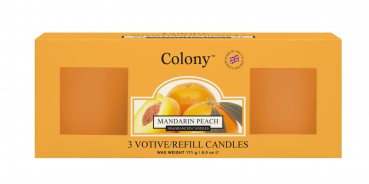 Wax Lyrical - Colony Fragranced 3 Votive Refill Box Mandarin Peach