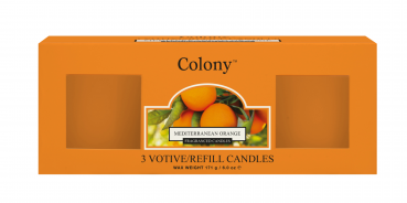 Wax Lyrical - Colony Fragranced 3 Votive Refill Box Mediterranean Orange