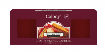 Wax Lyrical - Colony Fragranced 3 Votive Refill Box Mulled Wine