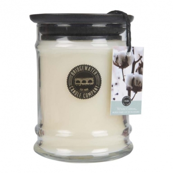 Bridgewater Candle Small Jar White Cotton 250 g