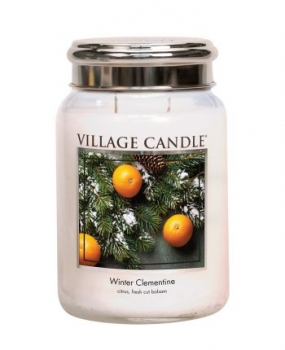 Village Candle Winter Clementine 645 g - 2 Docht