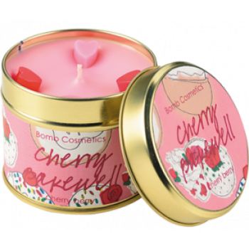 "Bomb Cosmetics ""Cherry Bakewell"" Tin Candle"