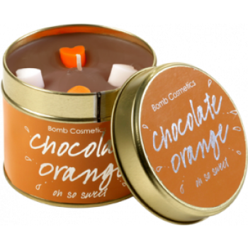 "Bomb Cosmetics ""Chocolate Orange"" Tin Candle"