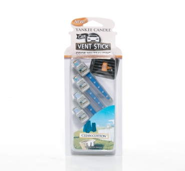 Yankee Candle Clean Cotton Car Vent Stick