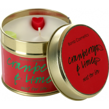 "Bomb Cosmetics ""Cranberry & Lime"" Tin Candle"