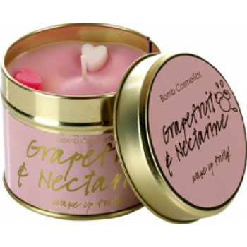 "Bomb Cosmetics ""Grapefruit & Nectarine"" Tin Candle"
