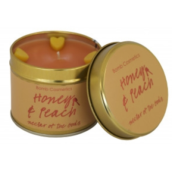 "Bomb Cosmetics ""Honey & Peach"" Tin Candle"