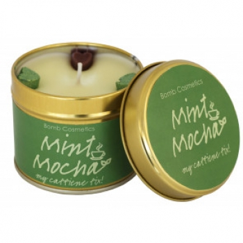 "Bomb Cosmetics ""Mint Mocha"" Tin Candle"