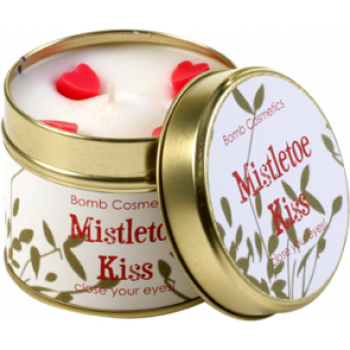 "Bomb Cosmetics ""Mistletoe Kiss"" Tin Candle"