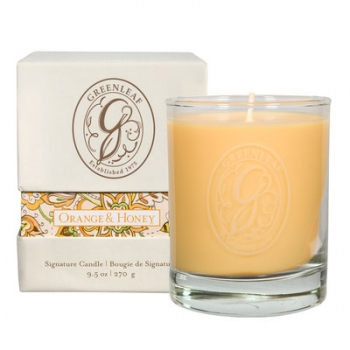Greenleaf Box Jar Candle Orange & Honey 270 g
