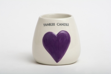 Yankee Candle Painted Hearts Ceramic Samplerhalter/Votivkerzenhalter purple
