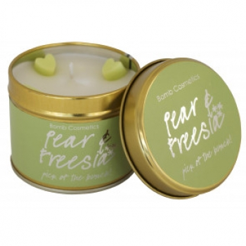 "Bomb Cosmetics ""Pear & Freesia"" Tin Candle"
