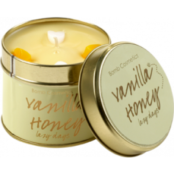 "Bomb Cosmetics ""Vanilla Honey"" Tin Candle"